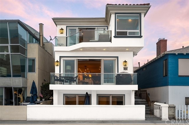 Rendering of the home painted white