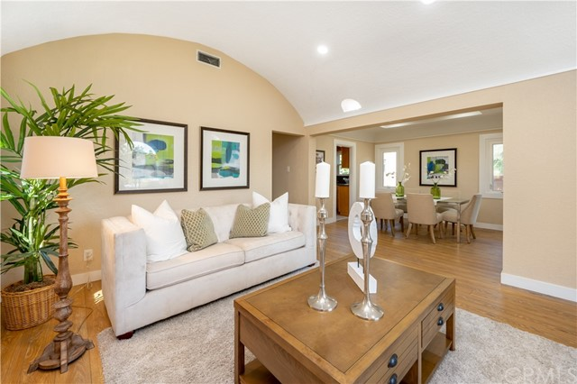 Well appointed living and dining areas connect flawlessly creating an open space