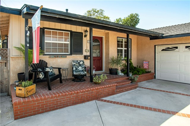 Ideally located on a cul-de-sac street in desirable College Park Estates, this charming pool home is a perfect family friendly home. Enjoy the limited traffic that comes with cul-de-sac living and the drought tolerant landscaping that welcomes you to the home. Upon entry, beautiful and contemporary wood flooring extends throughout the living space, inviting you into an open floor plan. The living room, kitchen and dining room, all open to the ultimate hub of the home, a 400 sq ft (approx) family room.  The family room is highlighted by a beamed cathedral ceiling and stone tile, gas fireplace. Open the French sliding doors onto the pool deck, reveling in both sun and shade, as you enjoy a cool dip or immerse yourself in the rejuvenating spa.  The quartz counter and farmhouse sink kitchen is light and bright, and opens to the spacious dining room, which can accommodate a large dinner party. A light filled garden window accents the dining room.  Adding to the light is a huge skylight illuminating the living room and includes a granite counter wet bar, perfect for entertaining. The bedrooms have dual pane windows with the master conveniently having access to the pool area. Sleep cool with the 2017 installed A/C system or conserve with ceiling fans in all rooms. The dual sink full bath has granite counters and coordinating polished tile. So much for a family to love about this home!