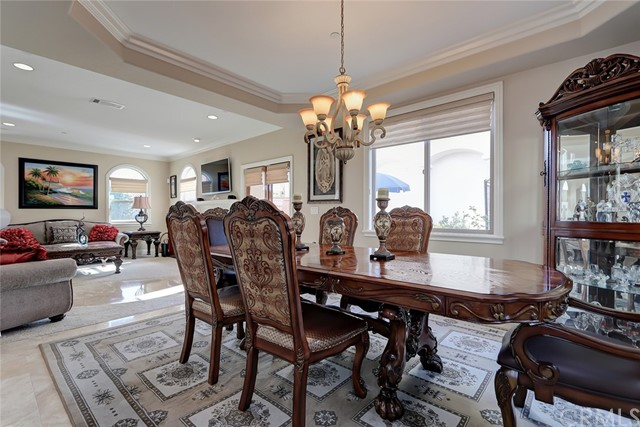 Plenty of room in this large dining room!