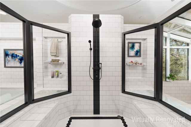 Master Bathroom - virtually renovated to tile and shower fixture  / surround treatment.