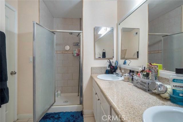 Unit C: Master bathroom with dual sinks
