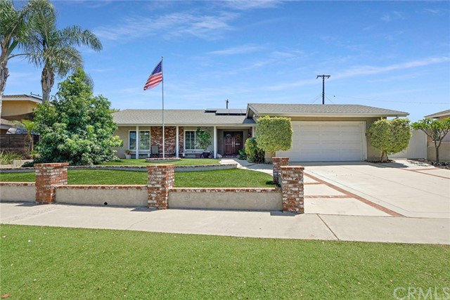 SO much to see in this remodeled single story beauty! The master suite is remarkable, with a double sided walk-in closet, full bath with jetted tub, stand alone tiled shower and large vanity. The tripled-pane sliders lead out to the backyard and the refreshing sparkling salt-water pool! Near the pool are grape vines loaded with bunches of grapes. Back inside enjoy the remodeled kitchen with granite counter tops and upgraded appliances. Super long counter tops let you have conversations with your guests while preparing meals. Don't feel like messing up the kitchen? Step through your slider and out to the builtin BBQ grill and prepare your meal there. The owners have paid attention to the details in this home with lighting that spot lights art work and provides task lighting. On the roof solar panels work to keep the electrical bills down they have been providing energy since 2012. The solar heat heats the pool throughout the year minimizing electricity costs. The front yard is entirely covered with artificial turf and hardscape, keeping your water bills down!  You'll be able to move right into this home and enjoy the attention to details these owners have invested in the home.