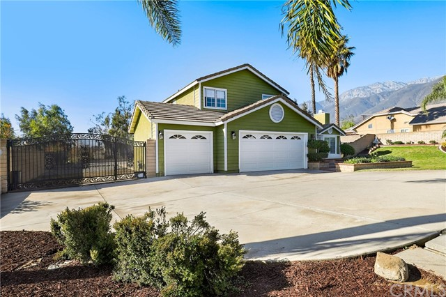 Prime location in Rancho Cucamonga, right off Wilson Avenue is where you'll find this beautiful four bedroom three bathroom home with a downstairs bedroom and full bathroom. This home features a formal living room/dining room with plantation shutters and a fireplace. The kitchen is set up with tons of cabinet space, stainless steel appliances, full backsplash, and a built-in eating area right off the kitchen island style with storage. Enjoy the family room right off the kitchen with access to the backyard. The secondary bedrooms are very spacious and receive tons of natural light. The primary bedroom is huge, and the primary bathroom includes a frameless shower, separate tub, granite counters, and plenty of storage. In the backyard, you'll enjoy the space perfect to entertain family and friends. There's space to add a pool, tennis courts, or even a guest house! There is also rear entry. Low property taxes, amazing mountain views as you drive up to this home, and one of the top school districts in the area make this an ideal home! Don't wait and call to schedule a private tour Now!