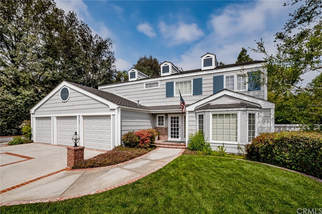"""This home is a blank slate awaiting your vision and design talent to transform it! The perfect DIY project ready for your personal touch and your opportunity to live in the exquisite community of Nellie Gail Ranch. This spacious 2,499 sq. ft gem has a park-like setting backyard and offers a floorplan that will delight the entire family. The home has been repiped with PEX, has dual pane windows and high-tech shadow electric security shutters. As you enter through the foyer you'll notice the semi-circular staircase with spacious formal and dining rooms. The dining room is a great space for more formal dinners and features two built-ins; a butler's pantry and a lighted wine rack.  Adorned with crown moulding, and beautiful French doors that lead you to the well-appointed courtyard that is great for relaxing with the family.  The kitchen offers plenty of cabinets for storage and ample counter space and has a cheery window that overlooks the backyard.  The pantry and drawers have convenient pull-outs, double ovens, and a gas stove. Adjacent to the kitchen is a cozy nook for more casual meals with bay windows and is open to the generous size family room, complete with a wet bar, brick fireplace, crown molding, and dual-pane slider which overlooks the backyard.  A powder room, guest closet, and inside laundry complete the lower level. Upstairs you'll enter through the double doors to find the master bedroom is separated from the secondary bedrooms and has two ample mirrored closets, a gas fireplace, a ceiling fan, and a sizeable deck that overlooks the estate. The master bath area has dual sinks, a vanity area, a soaking tub, and a separate walk-in shower.  The secondary bedrooms are all spacious and all have dual-pane windows. Delight in the amazing backyard and walk up to the """"Observation deck"""" where you can enjoy the view of your new home. With colorful blooms, and an assortment of delicious fruit trees, lemon trees, avocado, orange, or kumquat trees. The avocado tree w"""