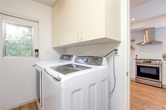 Laundry room adjacent to kitchen