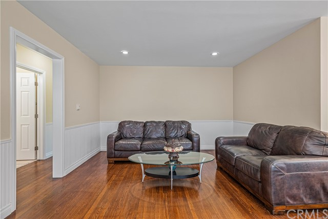 living room /  Doorway to Hallway leading to bedrooms 1,2,3 and bathroom.