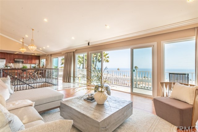 Sweeping ocean view and Catalina Island from living room, kitchen and dining, and from every bedroom! Open concept kitchen and dining lends the contemporary vibe to this mid centurymodern gem.  Meticulously remodeled and well maintained.  Redwood deck at front yard creates an outdoor living space with wall of ivy and a succulent garden.  Enclosed backyard with lush green lawn and ocean view is an ideal paradise for entertaining guests or an intimate gathering of wine and roses for the family.  1 mile from Trump National Golf Course; 1.8 miles away from beach access at White Point Park; minutes away from world class resort and fine dining at Terranea; Cabrillo Beach Yacht Club and marina, where fishing, sailing and cruising to Catalina Island have been very popular for Angelinos and tourists alike.  This quaint community named South Shores is the best hidden gem among all ocean view communities up and down the Southern California coast.
