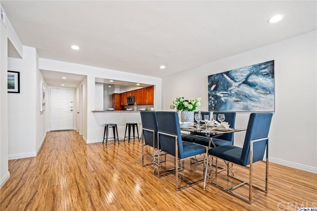 Priced to Sell! Hollywood Hills jewel nestled in the hills above Franklin, in the historic Hollywood Dell neighborhood. Completely remodeled with a designer's touch, this unique and large first-floor unit is completely updated and ready for immediate move in. Enjoy the peace and tranquility of the hills one day; delve into the Hollywood night-life the next! Over 1500 sq. ft living space, some of the features include: An open floor plan with views of Hollywood Hills; Newer kitchen with breakfast nook and counter seating with plenty of cabinets, newer tile floors & granite counter-tops; Stainless steel appliances include refrigerator, stove, dishwasher & microwave; recently updated wood laminate flooring with matching molding; Modern fireplace; Updated bathrooms; Recessed lighting throughout; Freshly painted unit; Spacious master bedroom features full-size private bathroom with plenty of closet space; In-unit laundry room. Pet friendly complex includes a dog run; Pool, spa, sauna, clubhouse and rec room with pool table close to the unit. This highly desirable unit is located in a historic neighborhood, close to many iconic LA landmarks including Capitol Records, Hollywood Bowl, and the Dolby Theater. Walk to Gelson's, Trader Joe's & Franklin Village, enjoy