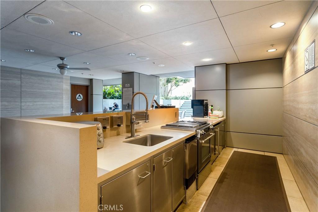 Community lounge and kitchen