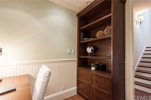 Private Office With Built-In Desk and Cabinetry