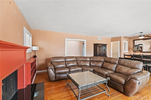 Upstairs unit living room