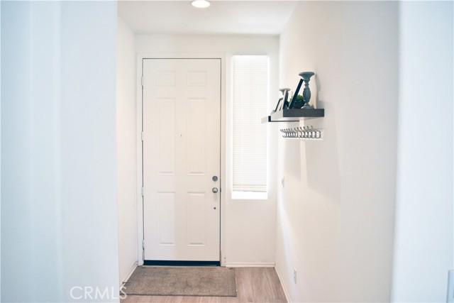 Facing front door from kitchen