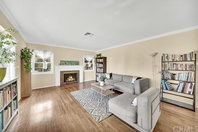 Hardwood floors through the home lend a warm abiance to the living areas and offer low maintenance