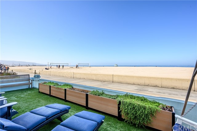 Sun and surf await ! Perfect for owner user or as an investment . This Strand beachfront triplex with total estimated 2,300 sf comprises recently remodeled units, (a) upper level: 2 x 1 bedroom + 1 bath units and (b) on the ground level: 1x 2 bedroom + 1.5 bath unit. Two of the units face the ocean each with its own deck/ balcony . Laundry area in each unit . There is a 2 car + 1 car garage with a Tesla car charger in each garage . Located close to great dining optionS, shops and local schools . Easy access to LAX and freeways .