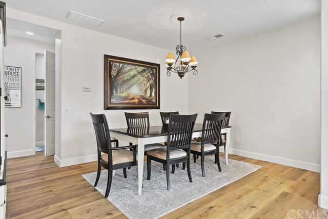 Spacious formal dining room, also freshly painted