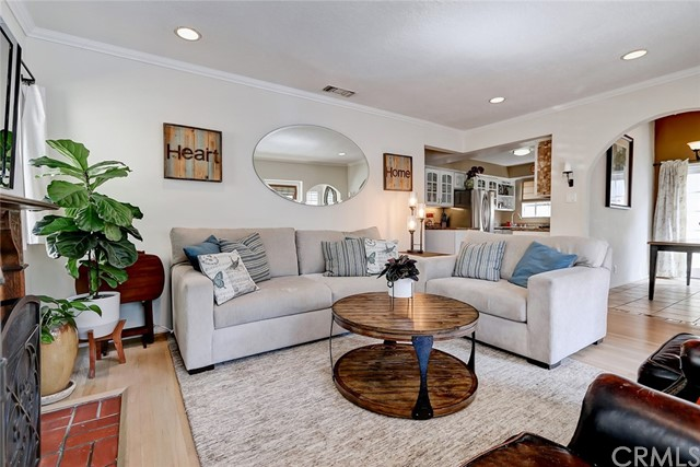 Spacious living room is open to the kitchen and dining room - ideal for entertaining!
