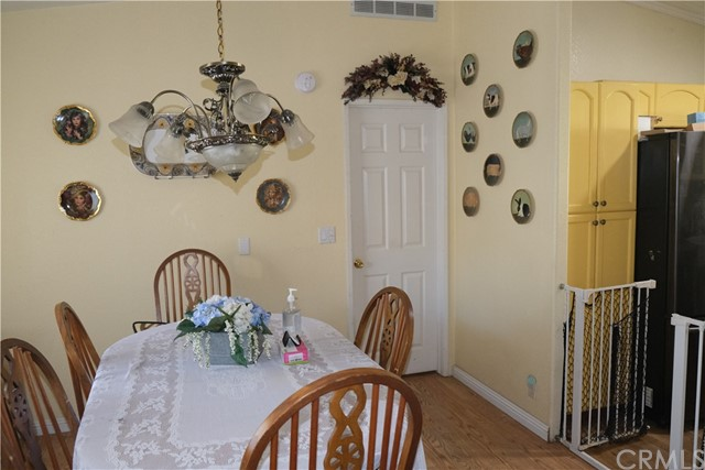 Dining Room adjacent to kitchen for easy entertaining.