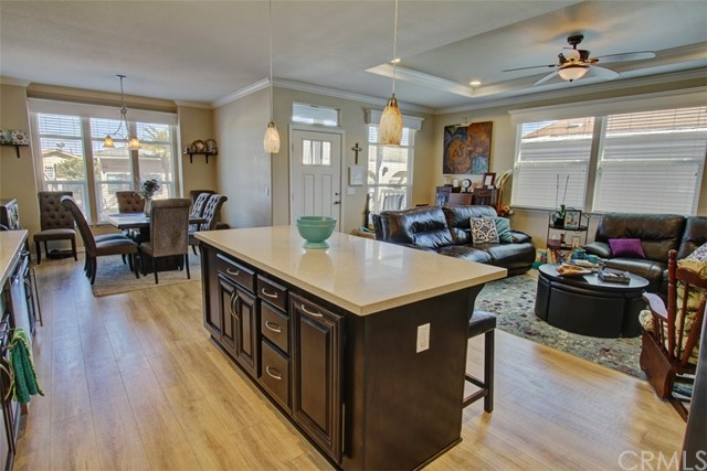 Stunning View from the Kitchen Area showing Beautiful Cabinetry and the Spaciousness of this Lovely Home
