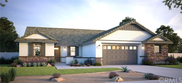 """Find the space you need in this new single story Model home in Pepper Tree Heights Community of Yucaipa. This 2458 SF Home sits on a 20,100 Sf lot, with room for RV, Pool, and Fun. The home features a total 4 bedrooms and 3 baths, with a Private Living Suite. The private living suite is perfect for mom and dad or older kids and consist of separate entry, Kitchenette, Living Room, Bedroom, and Bathroom. Interior of the home is spacious with large Kitchen open to Great Room and Dining area. Large 12 x 8 Stacking Slider that opens to the Outdoor Living Covered Patio. Large Kitchen Island, lots of counter top space with Alpine Quartz, Subway Tile Back Splash, Stainless Steel Appliances, including Double Oven. Satin White Shaker Cabinets at Kitchen Main and Soft Maple Kona Stained Shaker Cabinets Throughout the rest of Home. Soft Close hinges throughout as well. Beautiful Soundtech Luxury Vinyl Plank """"Boardwalk"""" Flooring through most of the home. Showtime """"Almond Carpet in bedrooms and closets. Large Walk in Kitchen Pantry, and plenty of room for bar Seating at Island. Master features slider to outdoor, large Master Bathroom with Venantino Peidrafina Quartz shower walls and Counter Tops. Down the hall you will find Large Laundry Room with Sink, Guest Bathroom with Double Sinks, and 2 Spacious secondary Bedrooms. The garage is an oversized with 2 car garage door, but has large utility Space for all the toys, or work shop. Home is Features energy efficient Windows, Doors, Tankless Water Heater, and an Attic that is Insulated top and bottom. Whole house Fire Sprinkler Systems, Sewer dump for potential RV, Pre-wired for Ceiling fan boxes all bedrooms. New home, Warranty, Peace of Mind! Forget Trying to bid against 10 people in the resale market, come and see what's possible with this home! Home under Construction and estimated to be ready by August 30.   NOTE: Interior pictures are virtual and are not of actual home."""