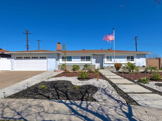 "This is a Dead Sharp Beauty with Thousands of Dollars in Recent Upgrades, You are Going to Love It! Excellent Location On a Cul De Sac, X-lrg 8900 sqft Pie Shaped Lot, Good Size Cement Drive Can Accommodate Extra Cars or RV.  Drought Tolerant Landscape, Front/Back. Dual Pane Windows, AC/FA and Nest Thermostat. Nw Security Door & Raised Panel w/ Etched Glass Front Door, Keyless Entry Included. Open Concept Living, Custom Dual Tone Paint, 4"" Base, Crown Molding, Raised Panel Interior Doors, New Brushed Nickle Hardware, Recessed Lighting, Beautiful Engineered Wood Plank Flooring in Soft Grey Through Out. Living Area is Over-sized with Raised Hearth Fireplace, Dining Area Easily Seats a Full Size Table With Room for More, Kitchen is Awesome! All New Bright White Shaker Cabinets with Neolith Style Quartz Counter Top, Soft Close Drawers, Farm Sink With Brushed Nickle Fixtures, Black Appliances, Etched Glass Window Overlooks Covered Patio, Matching Etched Glass Slider Accesses an Enclosed 150 sqft Patio (not included in sqft feet) that is used as the Playroom. Bedrooms are Huge! All with Generous Mirrored Wardrobes and Ceiling Fans.  Master Bathroom Is Completely Remodeled, X-Large Walk In Shower, 8X18 Porcelain  Tile Surround with Mosaic Tile Pan, Beautiful Clear Glass Enclosure, Brushed Nickle Fixtures.  Back Yard Is Excellent. Lots of Room for Entertainment, Garden, and Play.  Drought Resistant Artificial Grass."