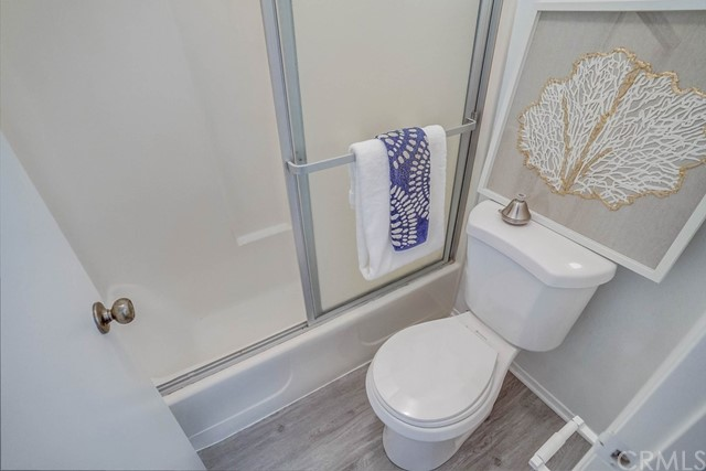 private area in master for shower and toilet
