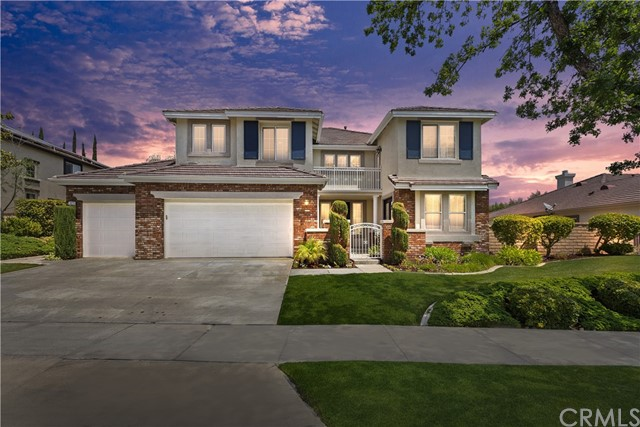 Stunning Eagle Glen home!! Open and Bright Floor Plan with 5 Bedrooms, 4 Baths, Bonus Room & Office. 3731 Sq/Ft, Built in 2000 by Lennar Homes, 10,454 Sq/Ft Lot, Just Remodeled, Private Gated Courtyard, New Paint Inside and Out, Grand Entry with Soaring 18 Ft Ceilings, Beautiful Sweeping White Turned Baulister Staircase, Downstairs Bedroom has its own Full Bath, Office with Seperate Entry great for Home Business, Tile/Wood Floors throughout Downstairs, Island Kitchen, White Cabinets, New Stone Counters, Stainless Steel Appliances, Built-In Desk, Double Oven, Cook Top Stove, Wine Rack, Breakfast Nook, Under Cabinet Accent Lighting, Pocket Door & Coffered Ceiling in Formal Dining Room, Plantation Shutters,Custom Drapes & Light Fixtures, Upstairs has 4 Bedrooms, 3 Baths, Huge Bonus Room and ceiling fans in all rooms. Spacious Master Suite with Retreat, Coffered Ceiling, Crown Molding, Mount Baldy View, Master Bath with Dual Vanities, Quartz Counters, Designer Blue Glasss Sinks, Separate Large Soaking Tub/Shower & Huge Walk-In Closet with Mirrored Door.. Great Back Yard for Entertaining, 10 Person Rock Spa, Waterfalls, Built-In BBQ Island, View Deck, Patio Cover, Tropical Landscaping with Accent Lights, Perimeter Block Walls and View of the 5th Green of Eagle Glen Golf Course.. Walking distance to Elementary School, Parks, Tennis Court, Golf Course, Clubhou