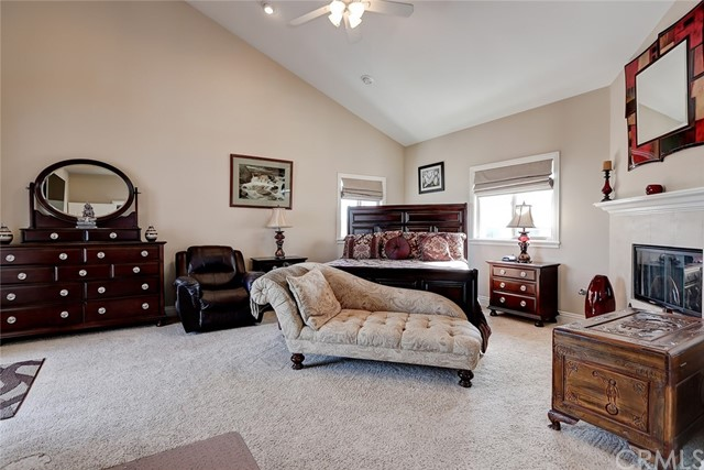 A cozy fireplace finishes off the spacious master suite!
