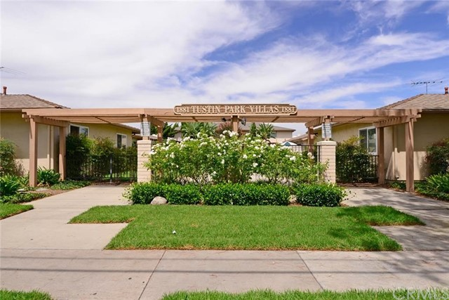Welcome to 1881 Mitchell #36, a rare single level condo located in the Tustin Park Villa's Community. This much loved home has been updated in recent years and boasts tile and wood laminate flooring throughout, newer dual pane vinyl windows and slider, recessed lighting, ceiling fans and new mirrored wardrobe doors. The spacious great room with gas fireplace opens to a private patio with ample space for barbecuing or enjoying the Southern California weather. The three bedroom/ two bath floor plan offers a spacious master bedroom with private bath and large secondary bedrooms in 1,150 square feet. Enjoy central heating and air conditioning for cool nights and hot days! Positioned steps from the community pool and away from the street, the new homeowner will relish a quiet location with parking and garage close by. The HOA maintains the lush landscaping, beautiful pool area, six community laundry rooms, roofing, water service and trash. Living in Tustin Park Villa's offers a central Orange County location with easy access to the 5 and 55 freeways, Orange County Airport and beautiful Southern California Beaches.
