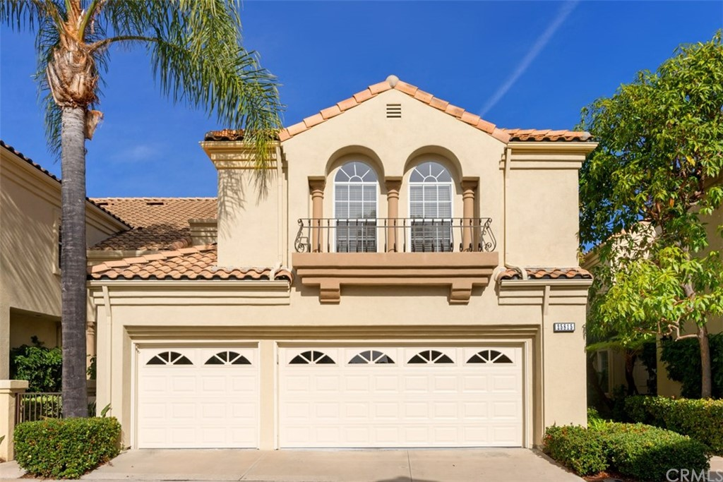 Distinctive Mediterranean Townhome w/unobstructed views.  Rare 3-car-finished garage w/cabinets & work bench.  Feels like a Single Family Home.  Energy efficient Whole House Fan. New FAU & AC in 2017.  Re-piped w/PEX piping.  Open Floor Plan features formal Living & Dining Rooms w/dramatic 2-story ceilings & windows.  Updated kitchen w/stainless steel appliances, slate flooring & granite counters.  Breakfast bar & nook for casual dining. Separate family room w/FP & French door. Tropical garden-patio w/lots of privacy, perfect for BBQ, entertaining or simply to relax, enjoy the views & the CA lifestyle.  Dramatic staircase leads to a wrap-around hallway w/arches overlooking the living areas below.  Spacious master w/vaulted ceilings. Luxurious master bath features oval tub, separate shower, dual vanity & walk in closet.  Set apart from the master are 2 generous sized bdrms & hall bath w/dual vanities. Rich w00d plank floors t/o the entry, walkways, powder room & dining/family rooms.  Plush carpet, decorator paint & tall baseboards complete this turnkey home.  Inside Laundry Room.  Sought after Bella Vista Gated Community is nestled among Luxury Moulton Ranch & Nellie Gail Multi-Million Dollar Homes.  Low tax rate & No Mello-Roos, HOA includes pool, spa, structure insurance, entryway landscaping, exterior maintenance, gated entry & more.  Near Moulton Ranch Park.  Centrally located for EZ access to 5 Frwy, 73 Toll Road, shopping, theaters, restaurants, beaches & the Metro link.