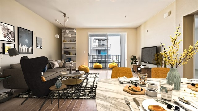 Welcome to the luxurious and spacious Mura condo in the heart of Downtown's Arts District. This fantastic unit features HIGH CEILINGS, a large living room, and a spacious bedroom. The living room leads to a balcony to some view of Downtown LA combined with the beautiful greenery and pool view of the courtyard. This unit comes with a rare separate storage unit and two assigned garage parking spaces. Amenities include 24/7 security guard, on-site management, fitness center, pool, jacuzzi, outdoor lounge with fireplace, and BBQ area. PRIME location- steps from the trendiest cafe, restaurants, bars, coffee spots, shops, and grocery in the city. Two blocks to the Metro Gold line and Little Tokyo.