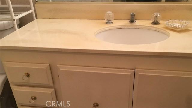 Vanity in first Bathroom