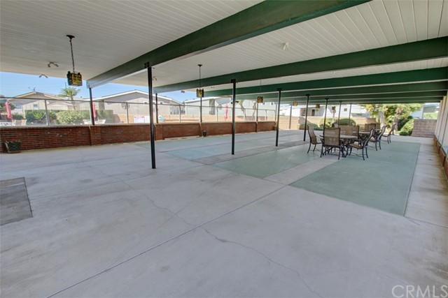 Large Patio Area Outside the Clubhouse next to the Pool