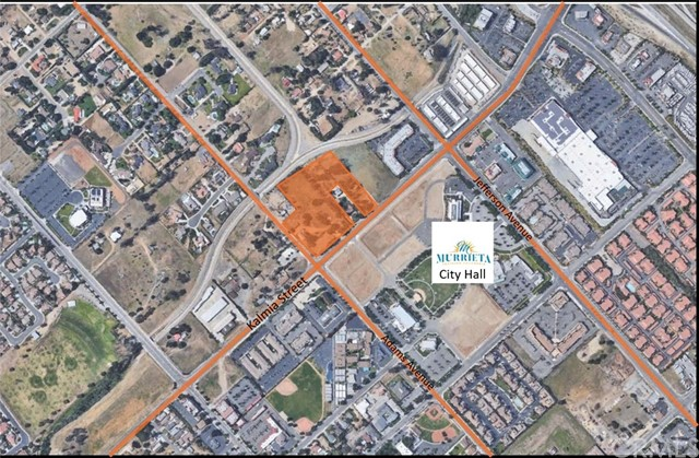 "Four parcels with 7.2 acres (33,632 sq.ft.) total of prime ""CC"" Community Commercial zoned land at NEC of Adams & Kalmia St in Murrieta.  Zoning will allow wide variety of uses, from retail, office, medical office, restaurants including drive thru, hotels, etc. etc. 