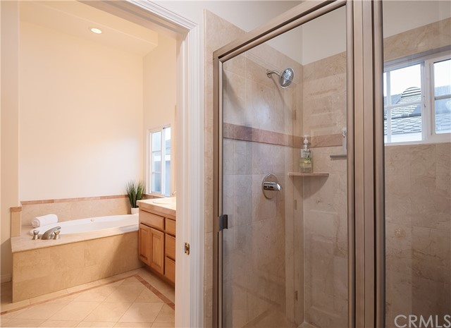 Separate shower in Primary Bath.