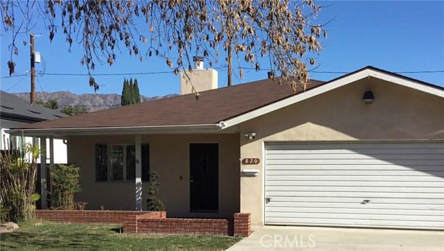 820 N Doan Drive, Burbank, CA 91506