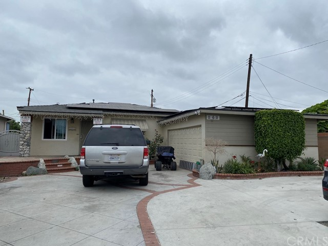 Opportunity is knocking!  It's a rare opportunity to live in one and rent out the other. This 7920 square feet lot has 2 houses on it. Front unit features 3 bed and 1 bath. Current rent is $2400 a month.  Back unit has 2 bedrooms and 2 bath with 800 living space. Current rent is $1600 a month. As you can see that both houses currently renting at below market price. Hurry, it wont last!