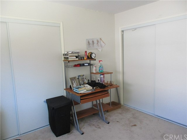 Unit #1 Bedroom. Two closets