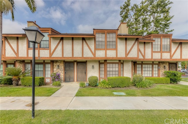 Spectacular luxury living in the prestigious city of Buena Park in the gated Chelsea Park Estates! Elegantly remodeled home Offers a 2 bedroom + 2.5 bath layout! Large open floor plan with open living room with fireplace & bay window. Elegantly remodeled kitchen with new counter top, custom back-splash, wood cabinets & stainless steel appliances! Separate dining area with direct access to beautiful lush backyard very serene and great to entertain. Main level 1/2 bath & convenient indoor laundry area. Second level provides Two huge master suites with en-suite bathrooms & tons of closet space. Additional features includes; elegant tile flooring, newer AC unit, 2 car garage with direct access via backyard & much more! HOA includes water, trash, exterior maintenance & gated community! Home is centrally located near schools, park, dining, shopping, entertainment & easy 5/91 freeway commute! Don't miss this once in a lifetime opportunity. This home is move in ready & a great fit for any family!