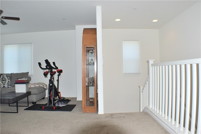 Loft area facing stairs