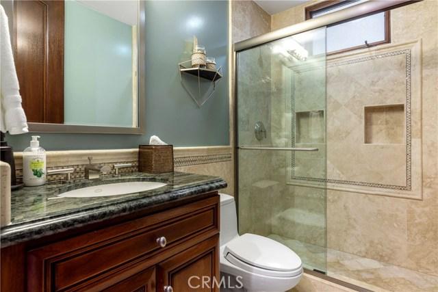 Bathroom on basement level.