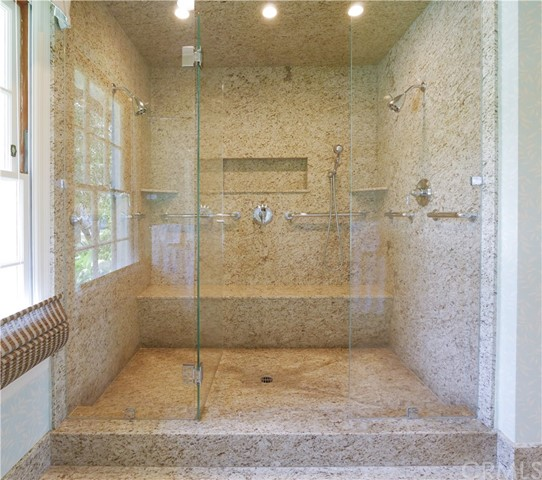 an oversized double shower
