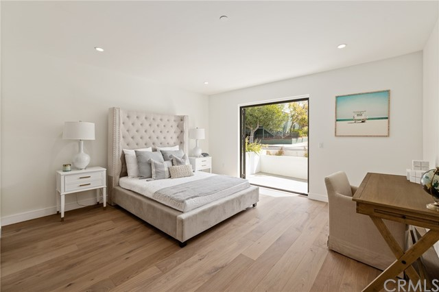 Spacious bedroom with private bath and private patio(shown here using reverse of 961 Unit A staging)