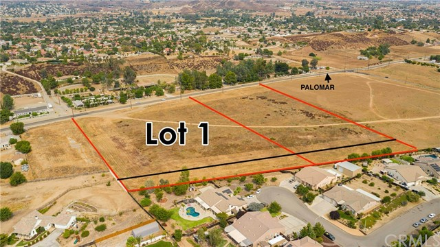 COMMERCIAL PROPERTY   5.30 acres of vacant land... apn. 368-060-011 is ( 4.78 ac) is zoned commercial.. Fault Study done. Palomar Rd. Frontage. gentle to flat.                                                                                apn. 368-060-026  (.52 ac) is zoned RR... NOT zoned.. might be a logical buffer zone between the              commercial and the residential behind.   This property fronts Palomar St, east of Mission TraiL and West of Wesley. PATH OF DEVELOPMENT OPPORTUNITY  Perfect for Commercial/Retail Sales.   More land available.