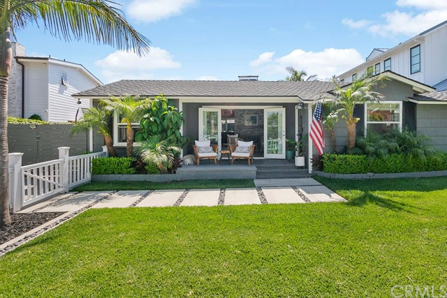 *** NEW Price adjustment***Located in the coveted CLIFF HAVEN neighborhood of Newport Beach is this charming, single story, quintessential beach cottage. Not only does it have tremendous curb appeal but is also newly remodeled with an open concept floor plan. Enjoy the indoor /outdoor living on this exceptional lot with its numerous highlights that include a fenced front yard with substantial grassy area, relaxing front porch with French Doors for entry, an entertainer's dream backyard that includes a private saltwater pool and spa, half bath for guest use, outdoor shower with hot/cold water, custom Redwood accent wall with Redwood barn doors, numerous areas to dine, relax, sunbathe, and play! The separate massive garage (over 1000 square feet) can park 6 cars tandem or can be used as a home office, gym, pool house etc. The lengthy driveway with double gate opening to backyard could be used for RV or boat parking. The kitchen has all stainless-steel appliances, stainless farmhouse sink, THOR range/oven, Quartz counters. Additional accents of this exceptional home include dual sided fireplace for living and family rooms, ceiling fans in all bedrooms, new LVP flooring, updated bathrooms, French Doors throughout, primary bedroom with walk-in closet, dual bathroom sinks and direct access to the resort style backyard.  Located near the Newport Peninsula, Lido Marina Village, Balboa Island & Ferry, many beaches, restaurants, and shopping.