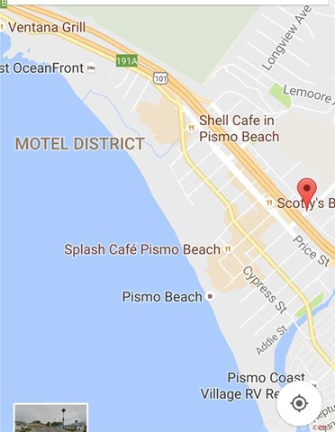 Street Map Of Pismo Beach Ca  Hinds Ave