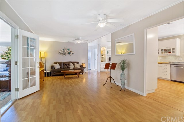 Spacious Living room with easy care flooring. Open floor plan, perfect for a large family and entertaining