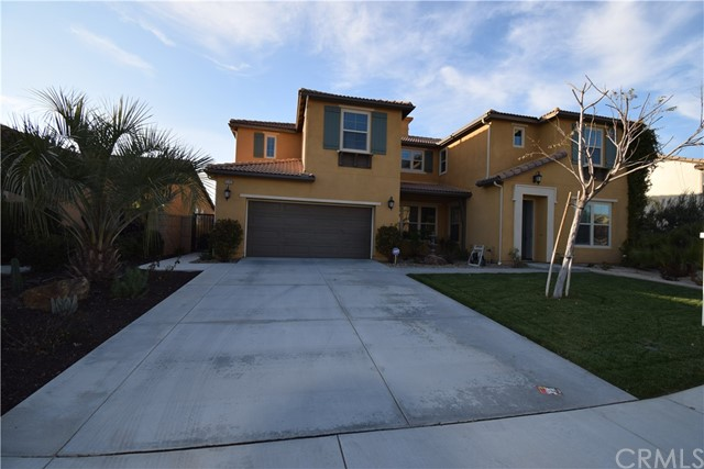 """**IMMACULATELY CLEAN AND BEAUTIFUL HOME! LOOKING FOR ITS NEW OWNERS!** This beautiful home located on a cul-de-sac in the community of Spencer's Crossing-a community with great amenities! This home is a walking distance to the elementary & middle schools in the award winning Murrieta School District. This turnkey home is ~3352 sq. ft. w/5 BR & 4.5 BA plus a den that could be used as an office, a gaming room, or an exercise room. On the 1st floor, you'll find a BR with a full BA. The kitchen has a large island with granite countertops, warm walnut cabinets and stainless steel appliances.  It is open to the kitchen nook & family room with a cozy fireplace. The flooring is upgraded with $40k in custom wood and tile. Custom wood blinds in selected windows as to not obstruct the natural light.  All windows have """"Solar Control Window Film"""" which provides 99% UV Protection, Energy Efficiency, Non-Darkening, and life time warranty on the film itself.  Upstairs shows 4 bedrooms, plenty of storage, Laundry room including a master bedroom with huge windows that provides unobstructed view of the moon/stars. The backyard is an entertainer's delight with its Solid Aluma Wood Patio Cover & 2 ceiling fans, custom waterfall, fruit trees including oranges, grapefruits, pomegranate, and grape vine, each on its own personal water dripping system. Water efficient landscaping!  The tandem garage is Epoxy-plus coated and includes 6-full custom made white closets to meet all your storage needs."""