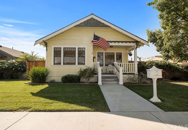 Charming and beautifully remodeled historical homes. These two homes, originally built in 1921 and 1880, were moved to this site in 2009 and the homes were rebuilt from the inside out. The exteriors are protected by the Mills Act that lowers the property taxes. Taxes are $4700/year. Front house greats you with a charming front porch. Inside you will find 9 ft. ceilings, French doors and wood doors and trim throughout. Stunning wood floors. Modern kitchen with granite counters, stainless gas appliances, and a walk in pantry. There is a nice dining area that is open to the living room. Separate den is great for watching movies. There are two spacious bedrooms plus the master bedroom with it's own bathroom and walk in closet. Two pedestal sinks in this bathroom and a separate tub and toilet area. The remodeled hall bathroom has designer floor tiles and subway tiles around the tub. There is a large inside laundry room and central AC. Through the patio and lush garden area you can walk to the one bedroom cottage. The cottage has it's own sweet front porch. Upon entering you will find 10 foot ceilings, wood floors, a spacious living room. The large kitchen has custom cabinets, granite counters, stainless gas appliances and looks out to the living room. There is a dining area with AC and laundry closet. The bedroom has a closet and a portable AC. The bathroom has a tub and custom floor tiles. The 10,000 sq. ft. corner lot offers a 2 car garage and 35 ft. RV parking space.