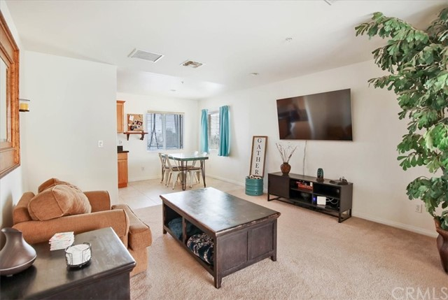 Family room, dining room combination